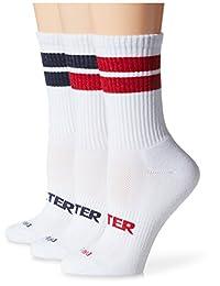 Starter womens standard 3-pack Mid-calf Striped Crew Socks