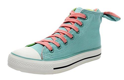 Xiaxian Women's Canvas Fashion Shoes(6 B(M)US,Light-Blue)