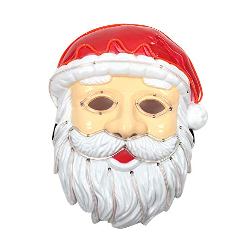 WOCACHI Clearacne Sale! Promotion! Santa Claus Mask, Christmas LED Mask Sound Control Cold Light Party Mask -