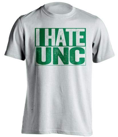 (I Hate UNC - Haters Gonna Hate Shirt - Green and Old Gold Versions - Box Design - White - 3XL)