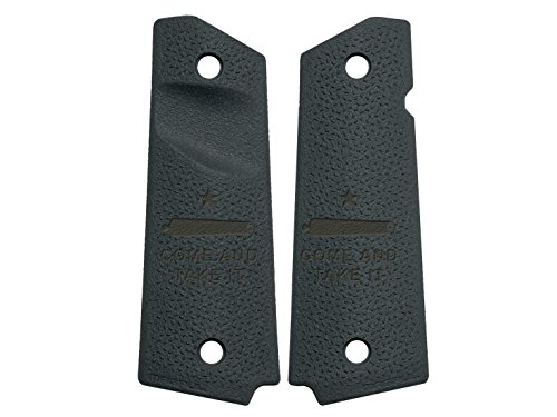 NDZ Performance for 1911 TSP Grip Panels Magpul Gray Trapezoidal Surface Projections MAG544 Come and Take It Cannon Text 2 - Come And Take It Magpul