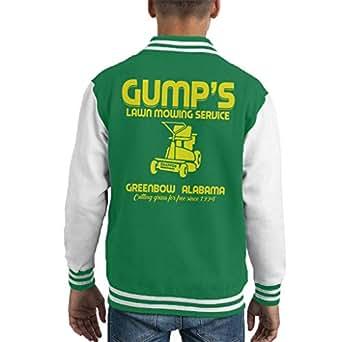 Cloud City 7 Gumps Lawn Mowing Service Forrest Gump Kids Varsity Jacket