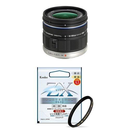 OLYMPUS 超広角ズームレンズ M.ZUIKO DIGITAL ED 9-18mm F4.0-5.6 + Kenko レンズフィルター ZX プロテクター SLIM 52mm セット   B077D1MDG4