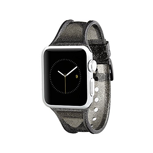 Case-Mate - Apple Watch Band - 38mm - SHEER GLAM - Series 3 Apple Watch Band - Noir (Glam Bands)