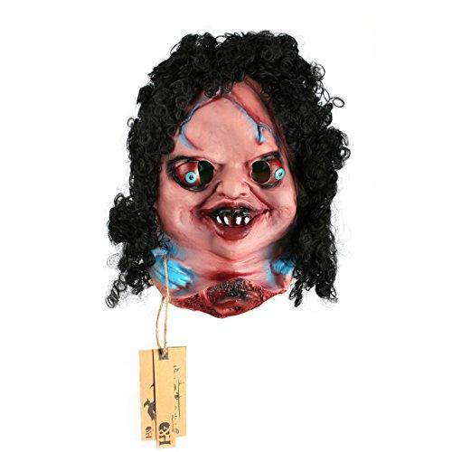 (YUFENG Scary Halloween Mask Creepy Horror Baby Doll Latex)