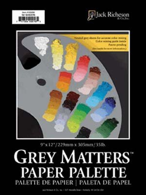 Basic Grey 12x12 Inch Paper - Jack Richeson Grey Matters Paper Palette (50 Sheets), 9