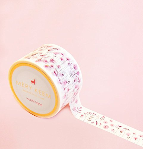 Spring Sakura Flower Washi Tape for Planning • Scrapbooking • Arts Crafts • Office • Party Supplies • Gift Wrapping • Colorful Decorative • Masking Tapes • DIY from MERYKEEM