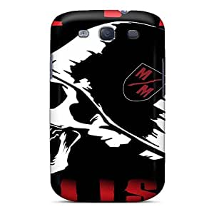 Scratch Resistant Hard Phone Cover For Samsung Galaxy S3 With Unique Design Vivid Metallica Image MansourMurray