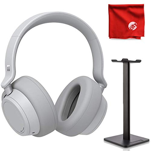 Microsoft Surface Over-Ear Active Noise Cancellation Bluetooth Headphones Bundle with Headphone Stand and Microfiber ()