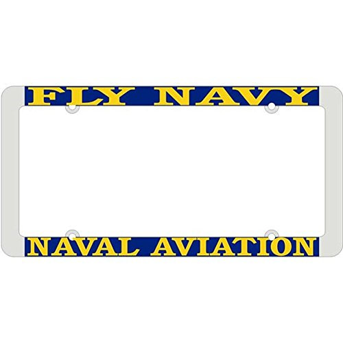 Honor Country Fly Navy Naval Aviation License Plate Frame, Thin Rim