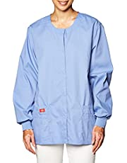 Dickies Womens EDS Signature Scrubs Missy Fit Snap Front Warm-up Jacket