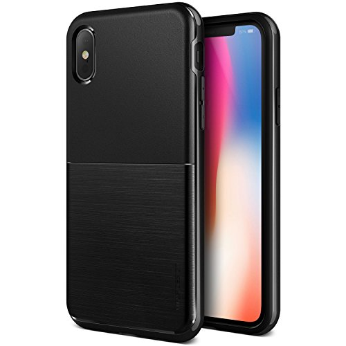 VRS DESIGN iPhone Xs Case, Dual Layer Protective Phone Case [Black] Premium Shockproof TPU Silicon Heavy Duty PC Bumper Cover for Apple iPhone Xs/X (10)[High Pro Shield] by VRS DESIGN