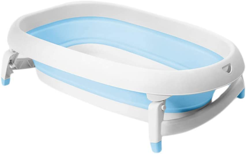 ベビー用浴槽、ポータブル折りたたみ式浴槽、子供用折りたたみシャワートレイ、快適な折りたたみ式ベビー用浴槽、浴槽、2色、21 * 82 * 49.5cm(色:青)