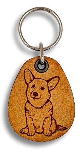 ForLeatherMore - Corgi - Genuine Leather Keychain - Pet Key Fobs