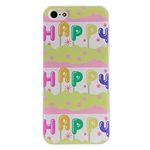 MOM Happy Pattern PC Hard Case with Transparent Frame for iPhone 5/5S