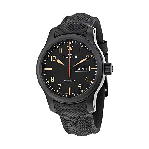 Fortis Aviatis Aeromaster Stealth Automatic Mens Watch 655.18.18 LP