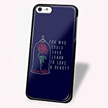 beauty and the beast rose logo quote for iPhone 5/5s Black case
