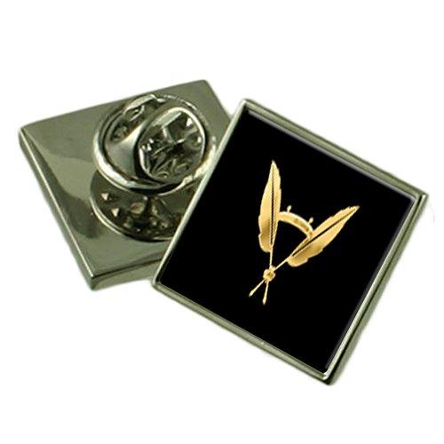 (Masonic Black 925 Silver Secretary Badge Lapel Pin)