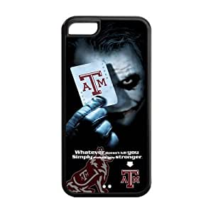 NCAA Texas A&M Aggies With Joker Poker Slim Fit Iphone 5C Plastic And TPU Silicone Back Case Cover At customcasestore by supermalls