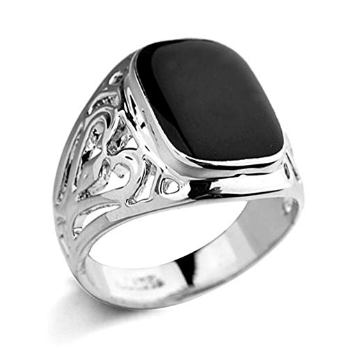 - Star Jewelry White Gold Plated Man and Woman Enamel Ring New Years Gift Jewelry Promise Ring Size 6-14
