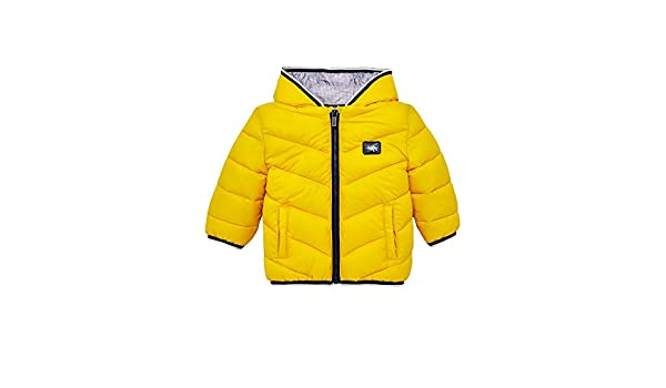 Amazon.com: Mayoral 18-02479-083 - Feathered Look Coat for Baby-Boys 12 Months Gold: Clothing