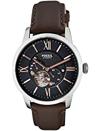 Men's ME3061 Townsman Mechanical Stainless Steel Watch with Brown Leather Band