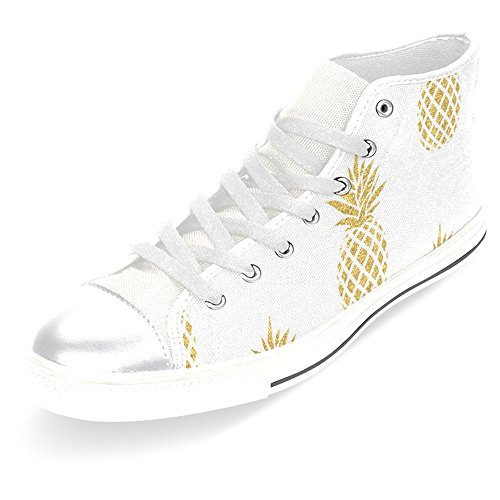 InterestPrint Womens High Top Classic Casual Canvas Fashion Shoes Trainers Sneakers Golden Pineapple 1t973TBUzY