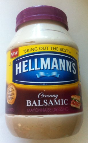 Hellmann's Creamy Balsamic Mayonnaise Dressing - Pack of 2 (30oz Each Bottle)