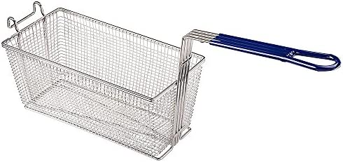 ReaseJoy Commercial Electric Deep Fat Fryer Basket Rectangular Wire Chip Fish Frying Basket 336x165x150mm (Pack of 2)