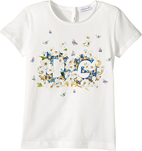 Dolce & Gabbana Kids Baby Girl's Caltagirone Floral Print T-Shirt (Toddler/Little Kids) White 6 (Little Kids) by Dolce & Gabbana