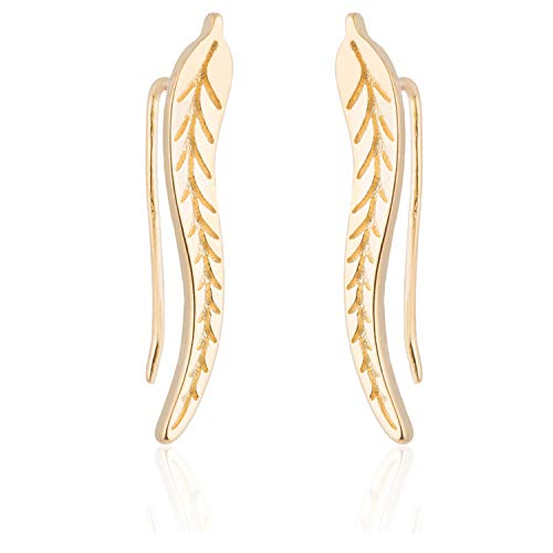 Bohemian Earings Leaf Earrings Fro Women Jewelry Christmas Ear Climber Earings Party Pendient Gift