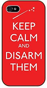 iPhone 5 / 5s Keep Calm and disarm them - black plastic case / Keep Calm, Motivation and Inspiration
