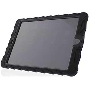 Apple iPad Air Hideaway with Stand Black Gumdrop Cases Silicone Rugged Shock Absorbing Protective Dual Layer Cover Case