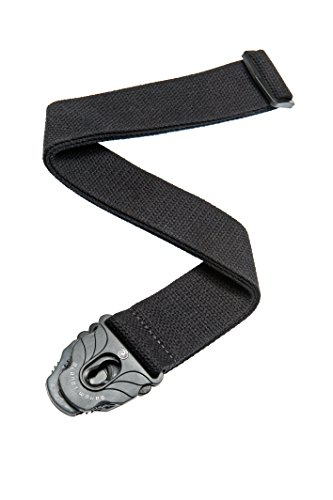 Planet Waves Planet Lock Guitar Strap, Black Cotton