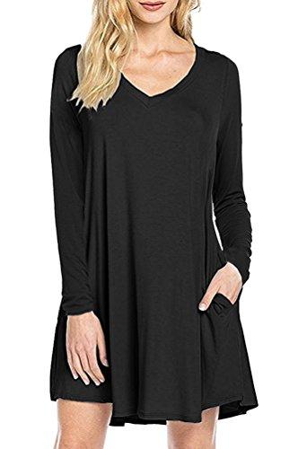 V-Neck Tunic Dress - 5