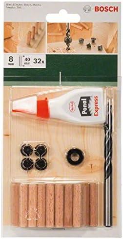 Bosch 2609255306 Coffret /à goujons 40 mm Diam/ètre 8 mm 32 pi/èces