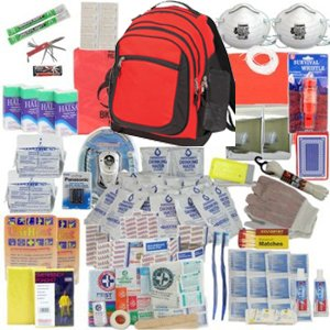 Deluxe 2-Person Perfect Survival Kit for Emergency Disaster Preparedness