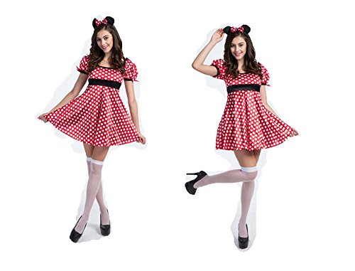 Women's Mickey Mouse Minnie Dress Christmas Halloween Cosplay Costume