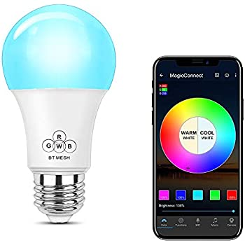 magiclight wifi smart light bulb dimmable multicolor wake up lights no hub required magic. Black Bedroom Furniture Sets. Home Design Ideas