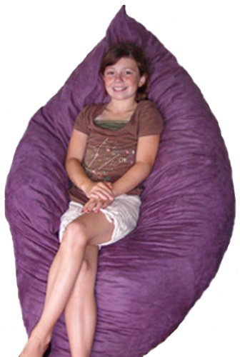 The Hug Chair - Pillow Bean Bag - Black Microfiber, Child Firmness