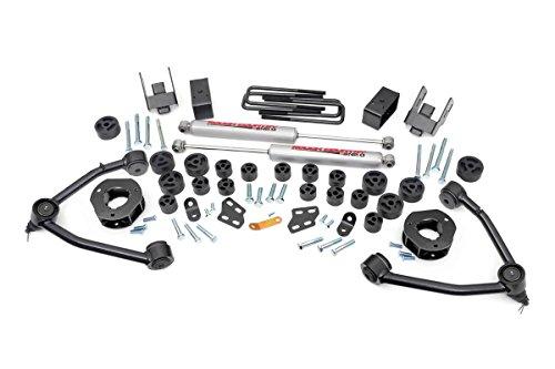 Rough Country - 254.20 - 4.75-inch Suspension & Body Lift Combo Kit w/ Premium N2.0 Shocks for Chevrolet: 07-13 Silverado 1500 2WD; GMC: 07-13 Sierra 1500 - Kit Arm Bumper