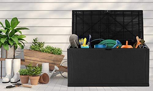 Deck Boxes Incbruce Outdoor Storage Box 120 Gallon Patio Deck Box with Handles, Patio Storage Waterproof Deck Boxes Garden Resin… outdoor deck boxes