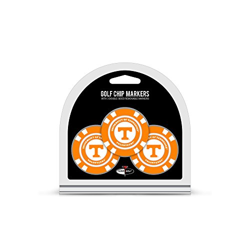 - Team Golf NCAA Tennessee Volunteers Golf Chip Ball Markers (3 Count), Poker Chip Size with Pop Out Smaller Double-Sided Enamel Markers