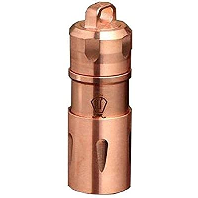 Jetbeam MINI-1 RC Copper Rechargeable Keychain Flashlight XP-G2 LED -130 Lumens by Ecosphere