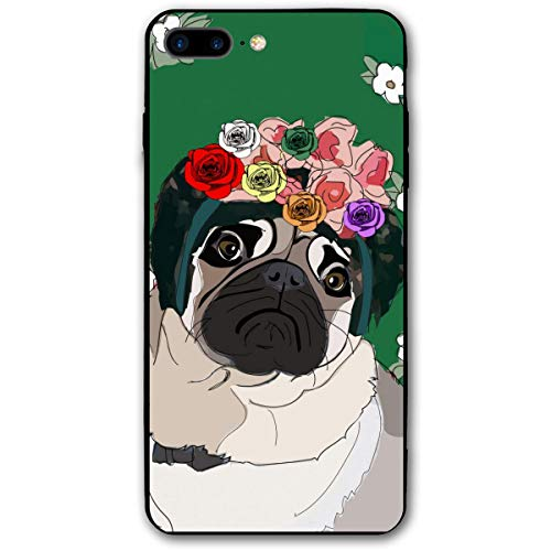 - Garlands Tropical Pug Dog Green Innocent Funny iPhone 7plus 8plus 7/8 Plus Phone Case Cover Theme Decorative Mobile Accessories Ultra Thin Lightweight Shell Pattern Printed Ornament Decorations