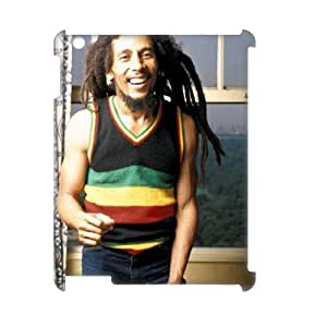 D-PAFD Bob Marley Pattern 3D Case for iPad 2,3,4
