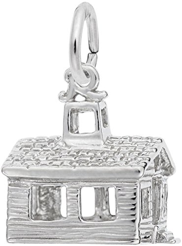 Rembrandt School House Charm - Metal - Sterling Silver (House Charm Silver Sterling)