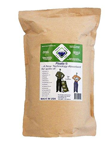 Floatix Multipurpose Absorbent Powder Spill Kit | Eco-Friendly Multipurpose Oil & Chemical Spill Absorbent for the Heaviest Spills - 2 Gallon Zip Seal Bag (Chemical Spill Kits)