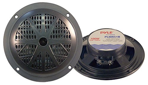Hydra 100 Watt 2 Way Marine Speakers Black