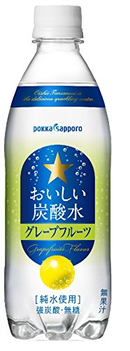 Pokka Sapporo delicious 500mlX24 this carbonated water grapefruit by Tasty carbonated water